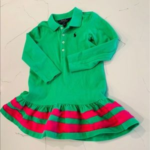 GUC Polo Green and Pink Dress